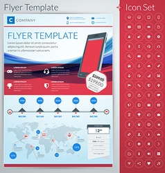 Abstract business flyer or poster template vector