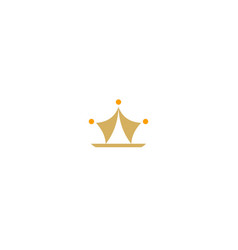 abstract crown logo vector image