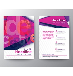 Abstract Triangle Brochure Flyer design Layout vector