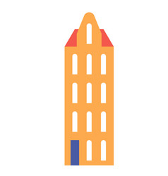amsterdam building flat color flat color vector image