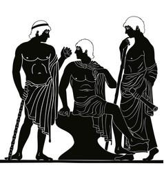 Ancient greek man vector