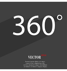 Angle 360 degrees icon symbol Flat modern web vector image