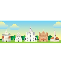 architecture flat vector image