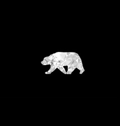 Bear polygon design vector