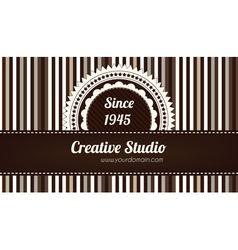 Brown decorative business card vector image