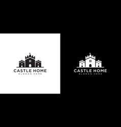 Castle and home logo design vector