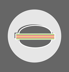 Cheeseburger flat icon vector image