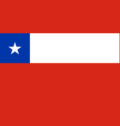 Chiles national flag with official colors vector