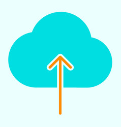 cloud upload line icon simple minimal pictogram vector image