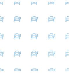 concrete mixer icon pattern seamless white vector image