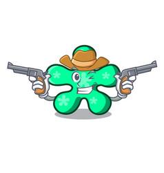 Cowboy free form character cartoon vector