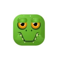 Crocodile Square Icon vector