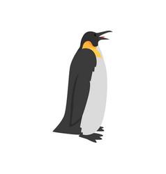cute penguin arctic bird side view vector image