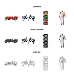 Design of car and rally logo collection of vector