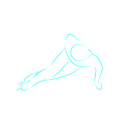 drawing outline winter sport vector image