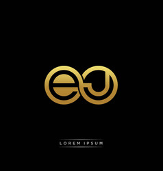 ej initial letter linked circle capital monogram vector image