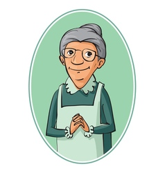 elderly woman characters vector image