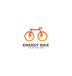 Energy bike logo design template vector