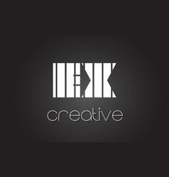 Ex e x letter logo design with white and black vector