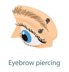 Eyebrow piercing icon isometric 3d style vector