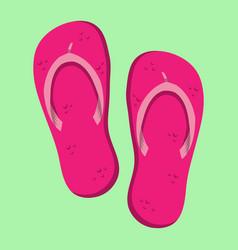 Flip flop shoe icon vector