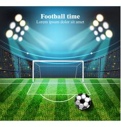 football field realistic football gates vector image