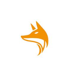 fox head orange for logo design vector image