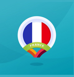 france flag map location pin european football vector image