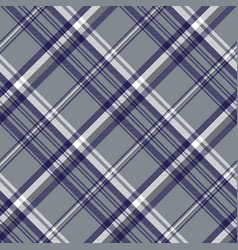Gray diagonal plaid seamless pattern vector