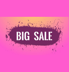 grunge big sale banner colorful background with vector image
