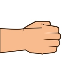 Hand closed fist vector
