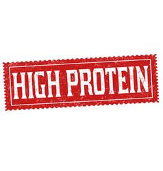 High protein grunge rubber stamp vector