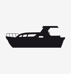 Icon pleasure boat speed boat boat side view vector