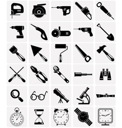 Icons of tools and devices vector image