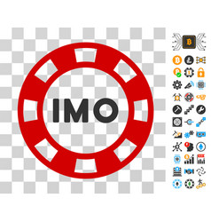 Imo token icon with bonus vector