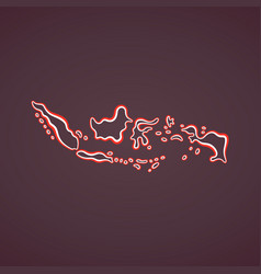 indonesia - outline map vector image