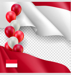 Indonesian patriotic template with copy space vector