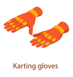 Karting gloves icon isometric 3d style vector