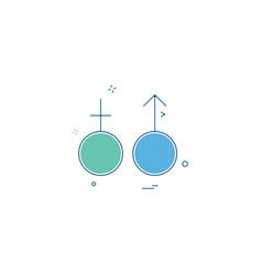 male female symbol icon design vector image
