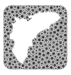 Map alicante province - coronavirus mosaic with vector
