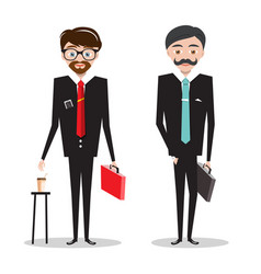 men in business suits businessmen cartoon people vector image
