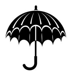 opened umbrella icon simple style vector image