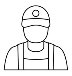 Petrol station man icon outline style vector