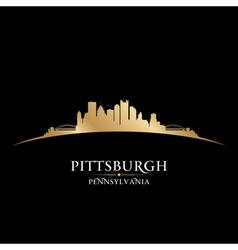Pittsburgh pennsylvania city skyline silhouette vector