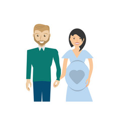 Pregnancy couple happiness image vector