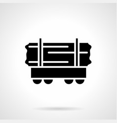 Rail car of wood glyph style icon vector
