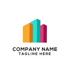 real estate logo design ready to use vector image