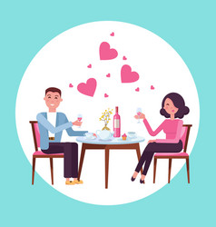 romantic valentine s day date man and woman in vector image
