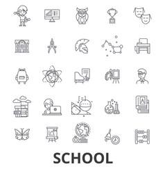 School school building education classroom vector