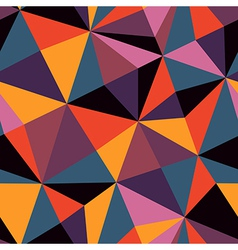 Seamless texture with triangles mosaic endless vector image